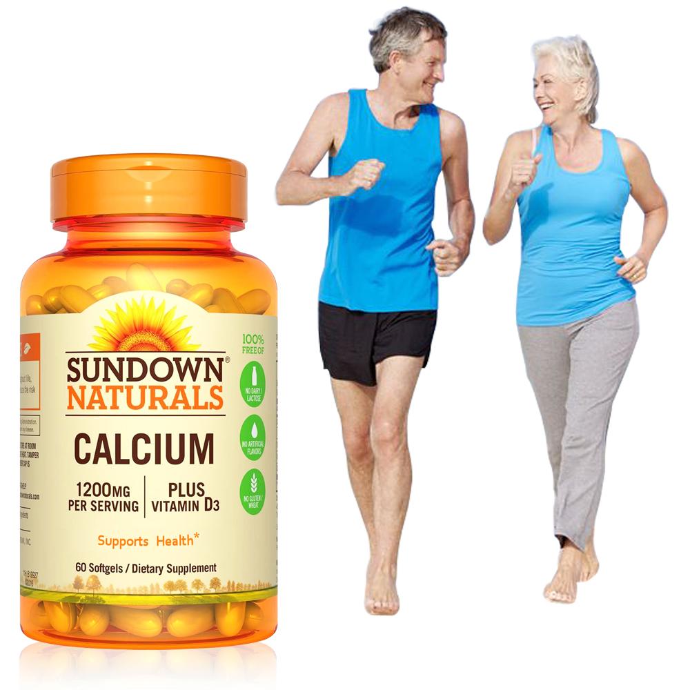 Sundown日落恩賜 高單位液態鈣 600 plus D3 軟膠囊(60粒/瓶)