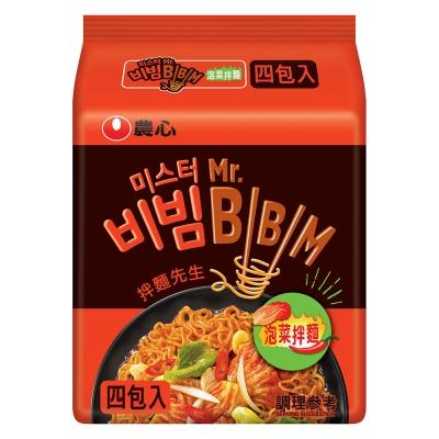 農心 泡菜拌麵(118gx4入)