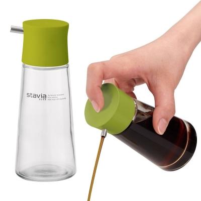 日本RISU新色系140ml調味油玻璃壺(芥末綠)