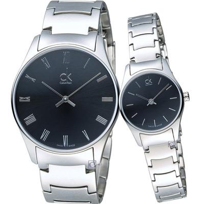 Calvin Klein 經典系列時尚對錶(K4D2114Y+K4D23141)黑
