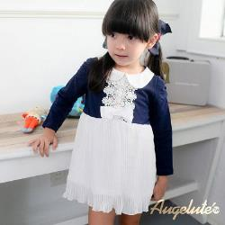 【Baby童衣】珍珠蕾絲領胸  女童連衣裙 37199
