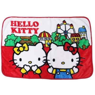 Sanrio HELLO KITTY輕巧毛毯S(雙子遊樂園)