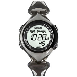 Speedo 暢快運動電子腕錶-灰/40mm