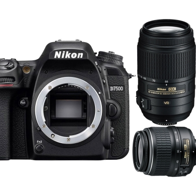 Nikon D7500+18-55mm VR+55-300mm VR 雙鏡組*(平輸中文)