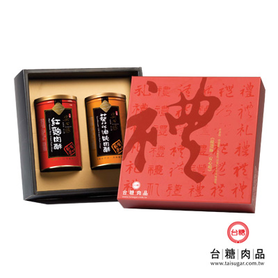 台糖安心豚 幸福滋味禮盒(紅麴肉酥+葵花油純肉酥)(春節禮盒)