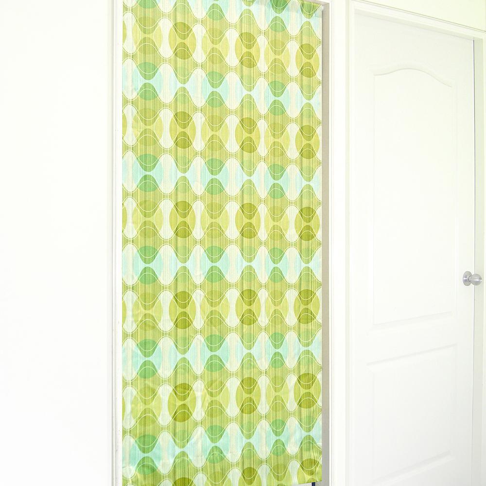 布安於室-幾合圖形遮光風水簾-綠色