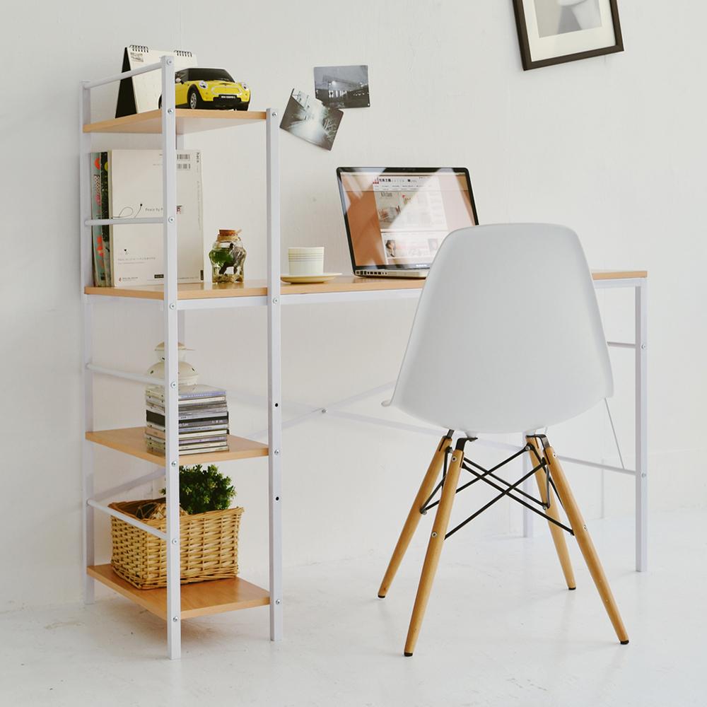 Home Feeling 多功能可調式層架電腦桌/工作桌/書桌(2色可選)