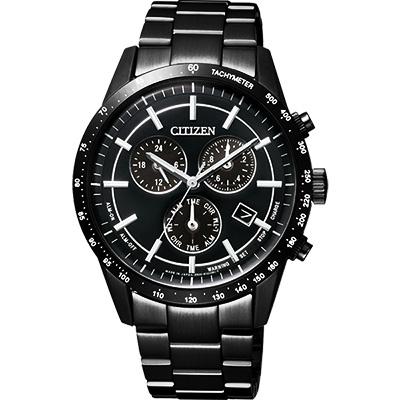 CITIZEN Eco-Drive 光動能城市風尚計時腕錶(BL5495-56E)-黑/39mm