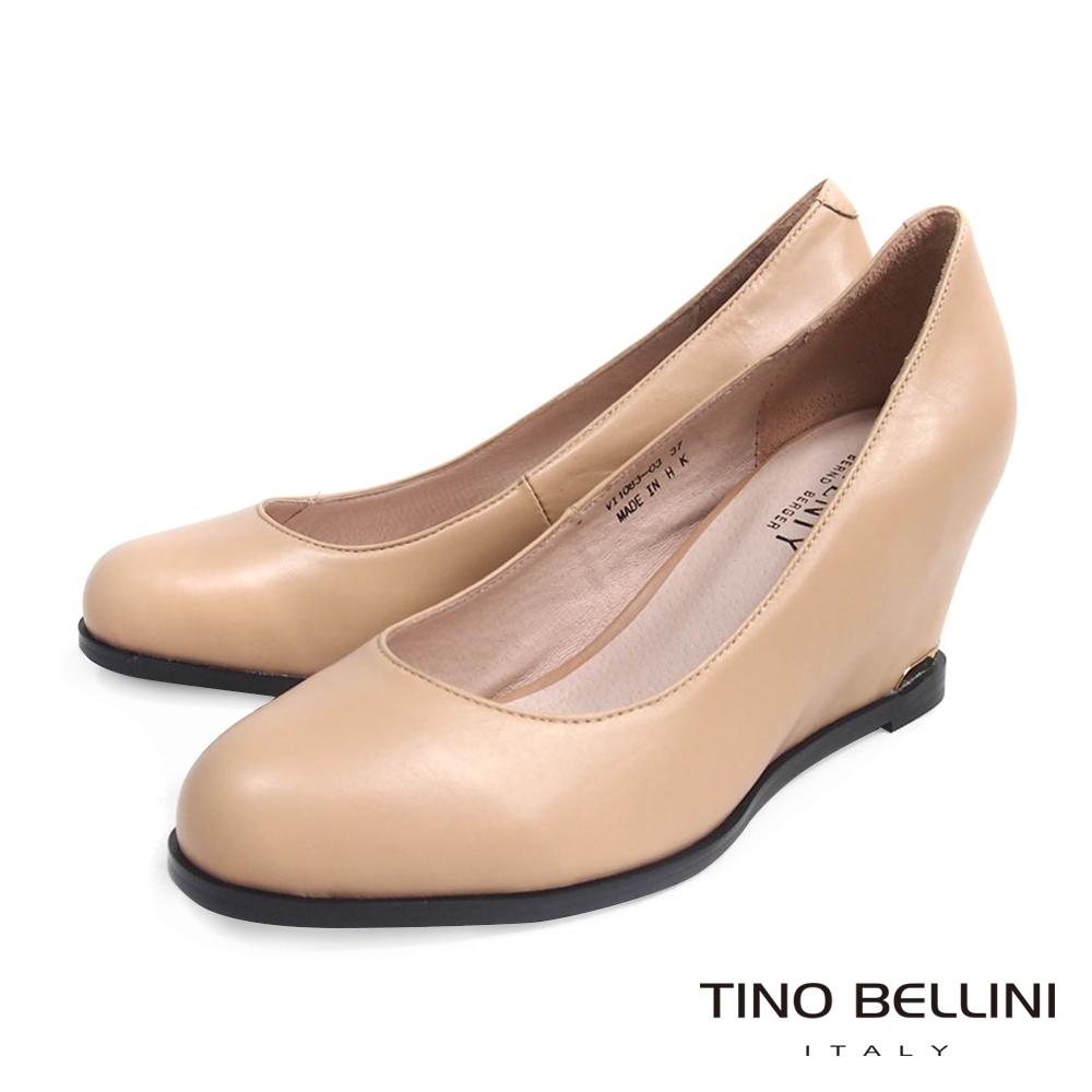Tino Bellini 完美印象頂級真皮內增高包鞋_膚