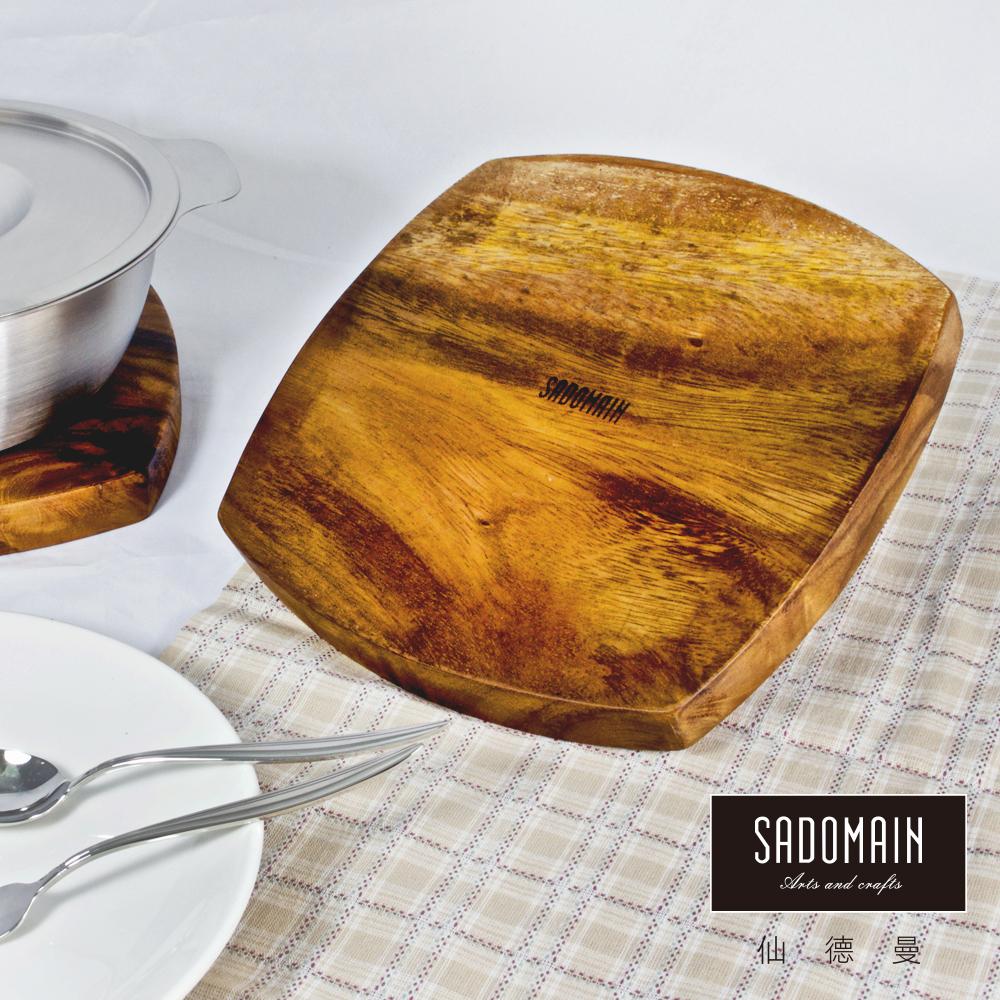 [買一送一] 仙德曼 SADOMAIN 圓形洋槐原木餐具鍋墊