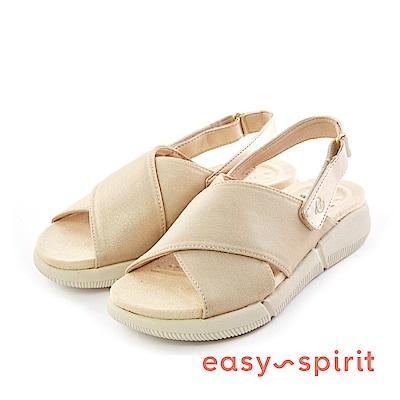 Easy Spirit--魚口厚底後拉帶式涼鞋-優雅金