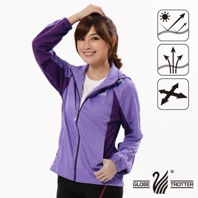 【遊遍天下】女版吸濕排汗透氣抗UV連帽外套GJ10010紫色