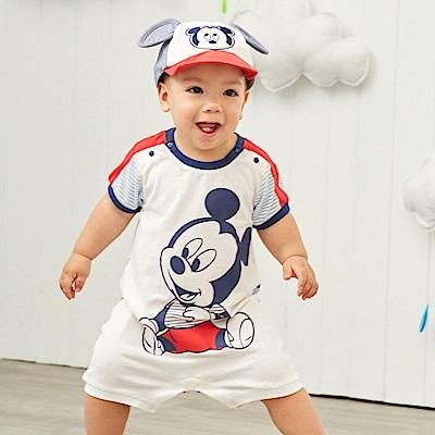 Disney baby 米奇系列拚接運動連身裝 (共2色)
