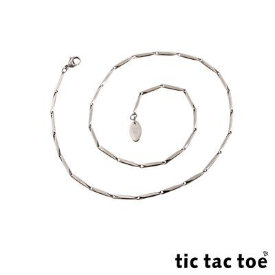 tic tac toe 白鋼造型單鍊-菱形面(小)