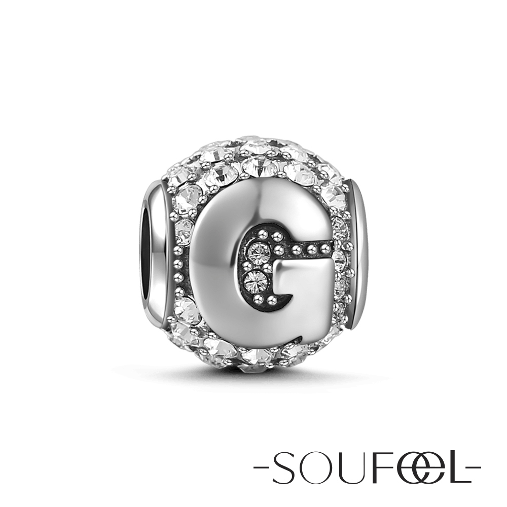 SOUFEEL索菲爾 925純銀珠飾 字母 G 串珠