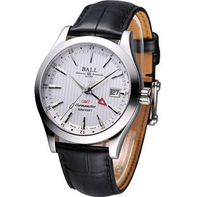 BALL GMT 瑞士天文臺認證雙時區機械腕錶-白/40mm