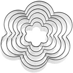 GP&me Dolce不鏽鋼大小餅乾模6件(六瓣花)