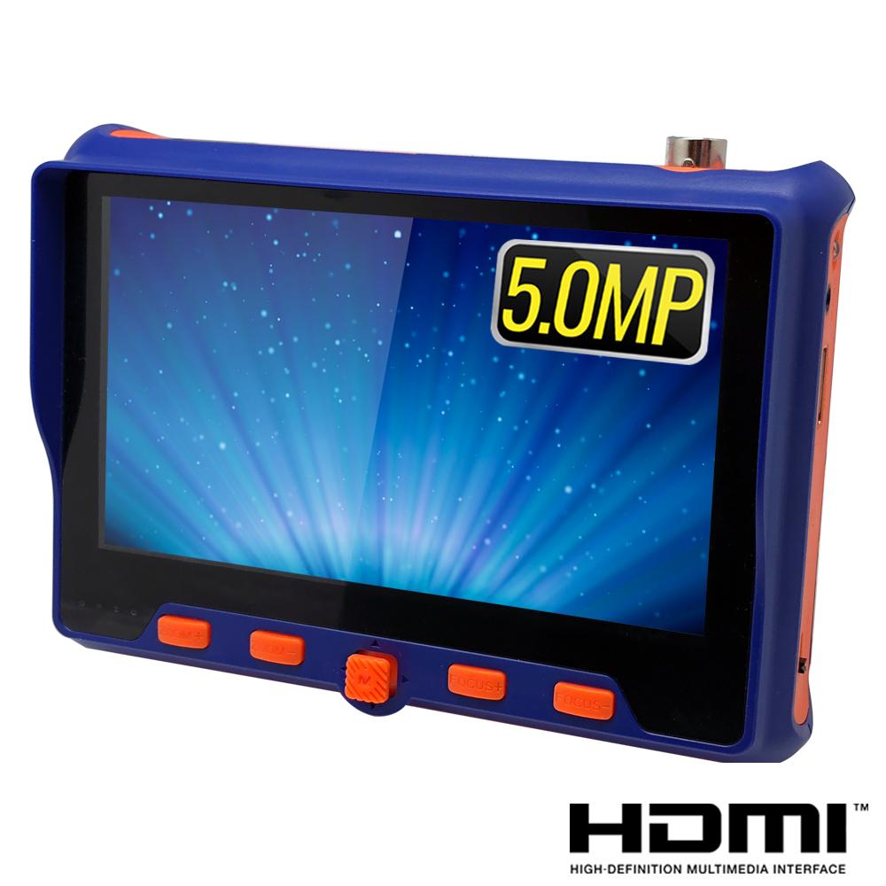 奇巧 5吋四合一1080P 5MP數位類比網路/影音訊號顯示器工程寶