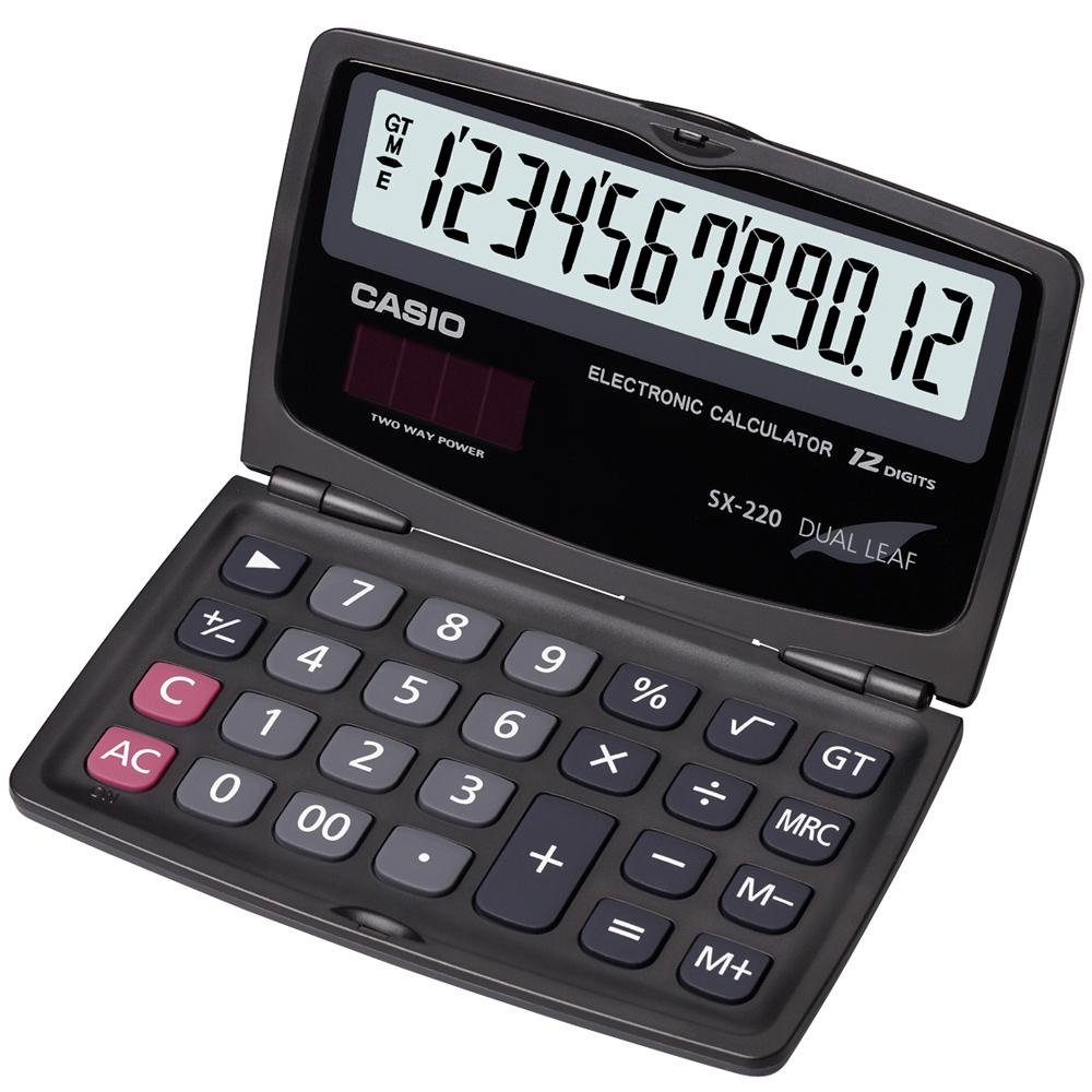 CASIO 卡西歐 (國家考試專用)12位數摺疊攜帶型計算機SX-220