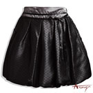 質感全緞面點點壓紋蝴蝶結短裙*4171黑