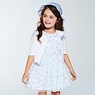 les enphants清甜蕾絲花園套裝(外套+洋裝) 水藍