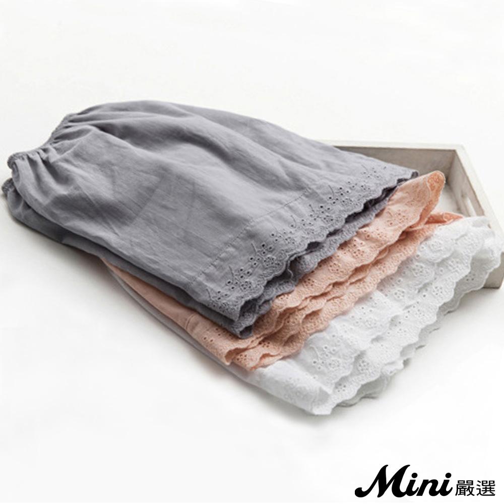 安全褲 純棉蕾絲花邊打底褲 三色-Mini嚴選