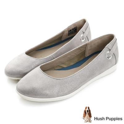 Hush Puppies MICHELE 輕量圓口休閒鞋-銀灰色
