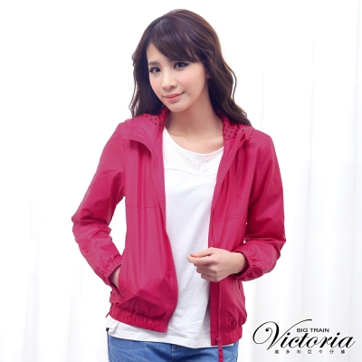 Victoria 連帽抗UV外套-女-桃紅