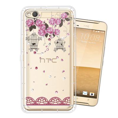 WT HTC One X9 奧地利水晶彩繪空壓手機殼(璀璨蕾絲)