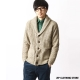 圍巾領針織外套防潑水ZIP日本男裝