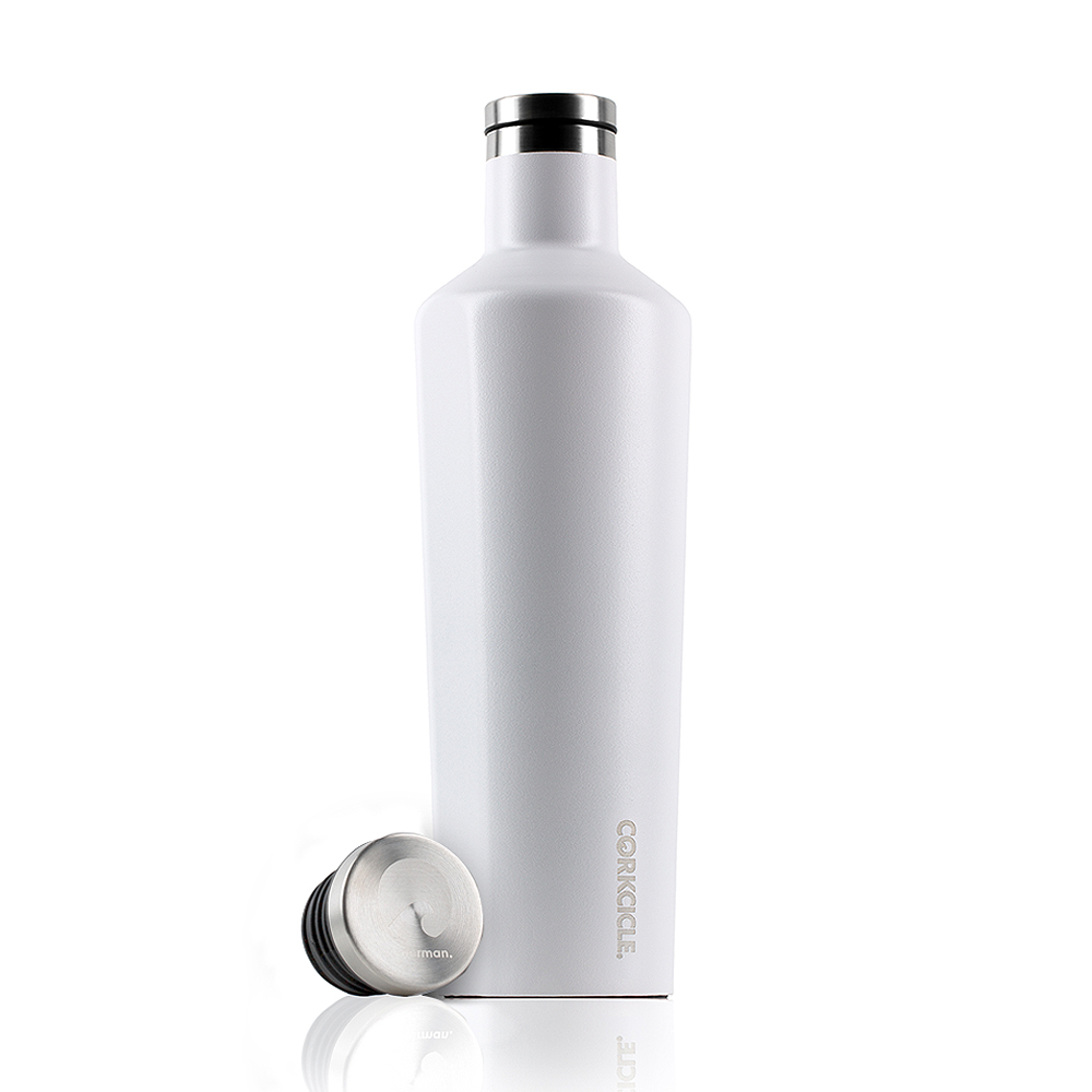 CORKCICLE 酷仕客Waterman戶外系列三層不鏽鋼易口保溫瓶-740ml (消光白)