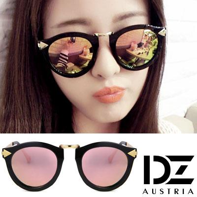 DZ 個性箭矢 抗UV 偏光 太陽眼鏡墨鏡(香檳粉膜)