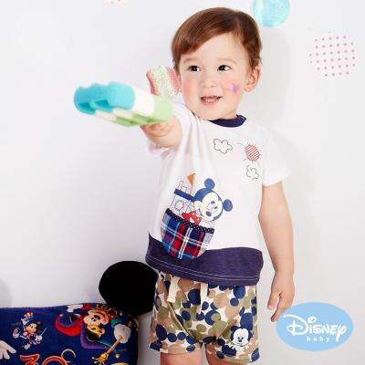 Disney Baby 印圖抽繩短褲 綠色