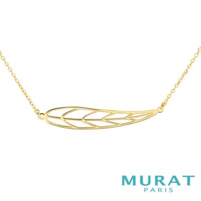 MURAT Paris米哈巴黎 優雅鏤空葉片項鍊(金色款)