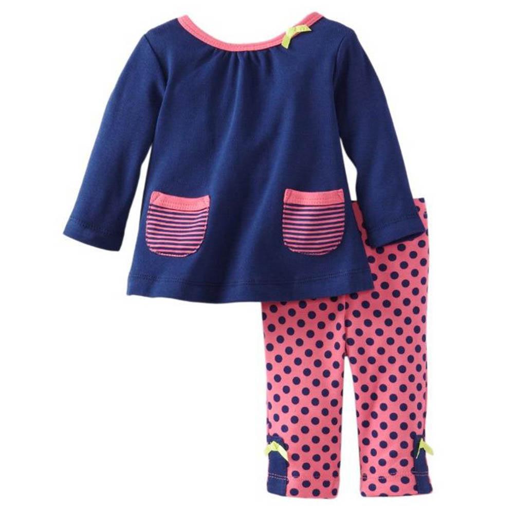 offspring  MLU00295N 條紋點點長袖套裝 (3-9m)