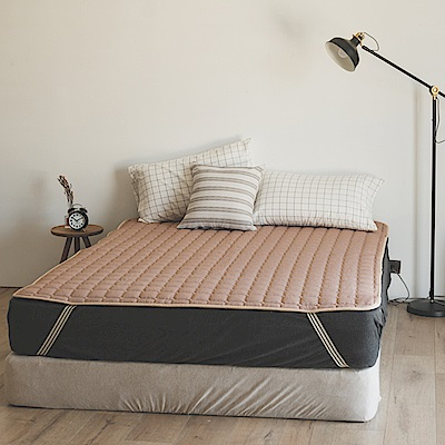 翔仔居家  加大-超細纖聚熱溫感睡墊-米駝