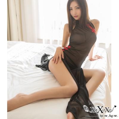 角色扮演 東方美人透視網紗睡衣 挑逗黑 XOXOXO