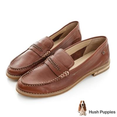 Hush Puppies Aubree 鉚釘百搭鞋-棕色