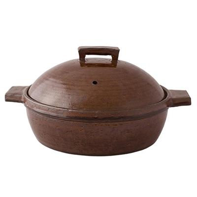 日本長谷園伊賀燒   小酒館蒸煮鍋(咖啡)-大