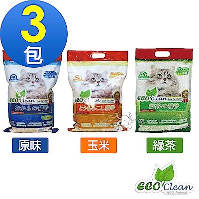 Eco Clean 艾可 天然環保 豆腐貓砂 6L X 3包組