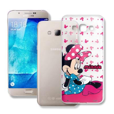 迪士尼授權 Samsung Galaxy A8 透明軟式手機殼(優雅米妮)