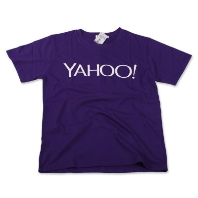 Yahoo LOGO中性短T。紫色(S)