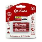 GS Yuasa 日本湯淺 大容量低自放電 鎳氫充電電池 2550mAh (3號 2入)