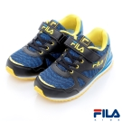 FILA KIDS中童EVA經典慢跑鞋-黑藍2-J430R-039