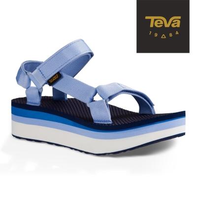 TEVA 美國 女 Flatorm Universal 織帶厚底涼鞋 (千層藍)