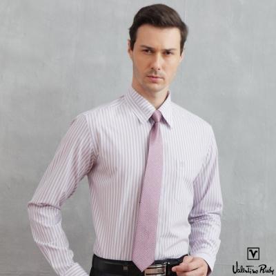 范倫鐵諾-路迪長袖襯衫-粉黑直條