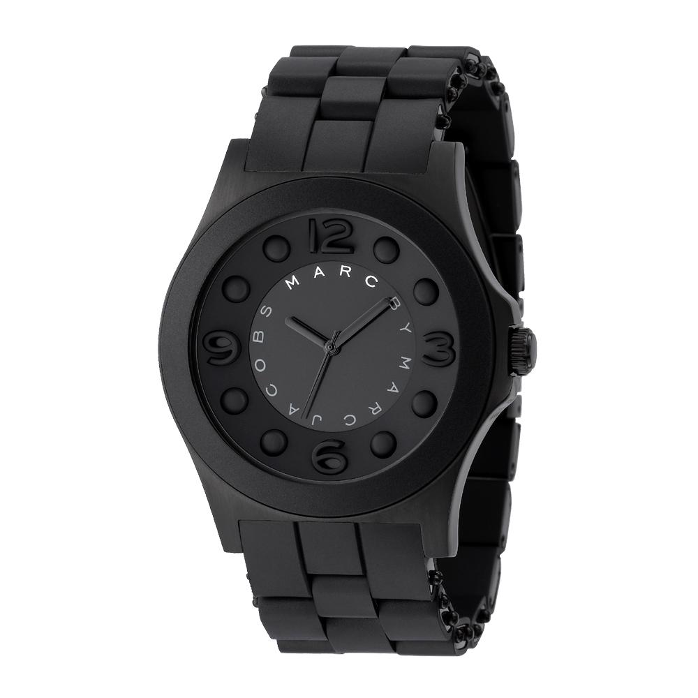 Marc Jacobs 狂想曲超大錶徑腕錶-IP黑/46mm