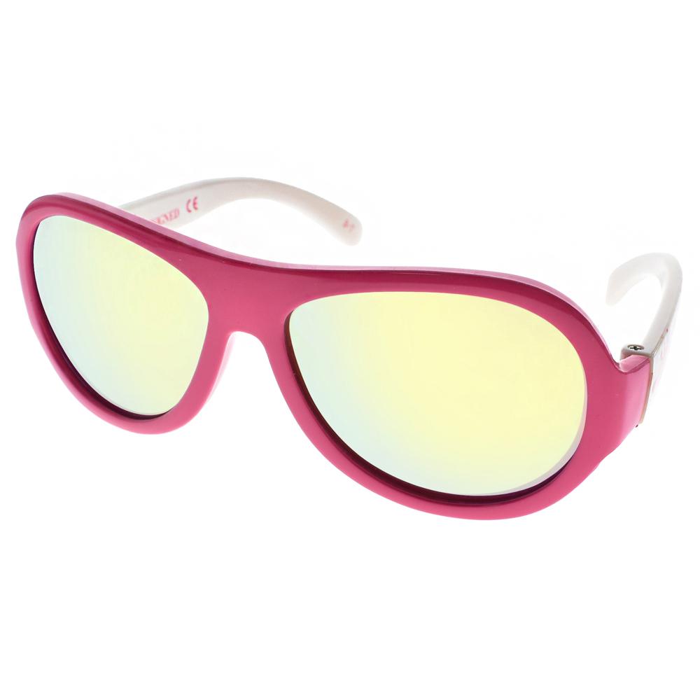 SHADEZ兒童太陽眼鏡無毒可彎曲粉白潑漆-黃水銀SH15SHZ3 C48