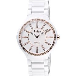 Diadem 黛亞登邱比特傳愛系列陶瓷腕錶-白x玫塊金框/38mm