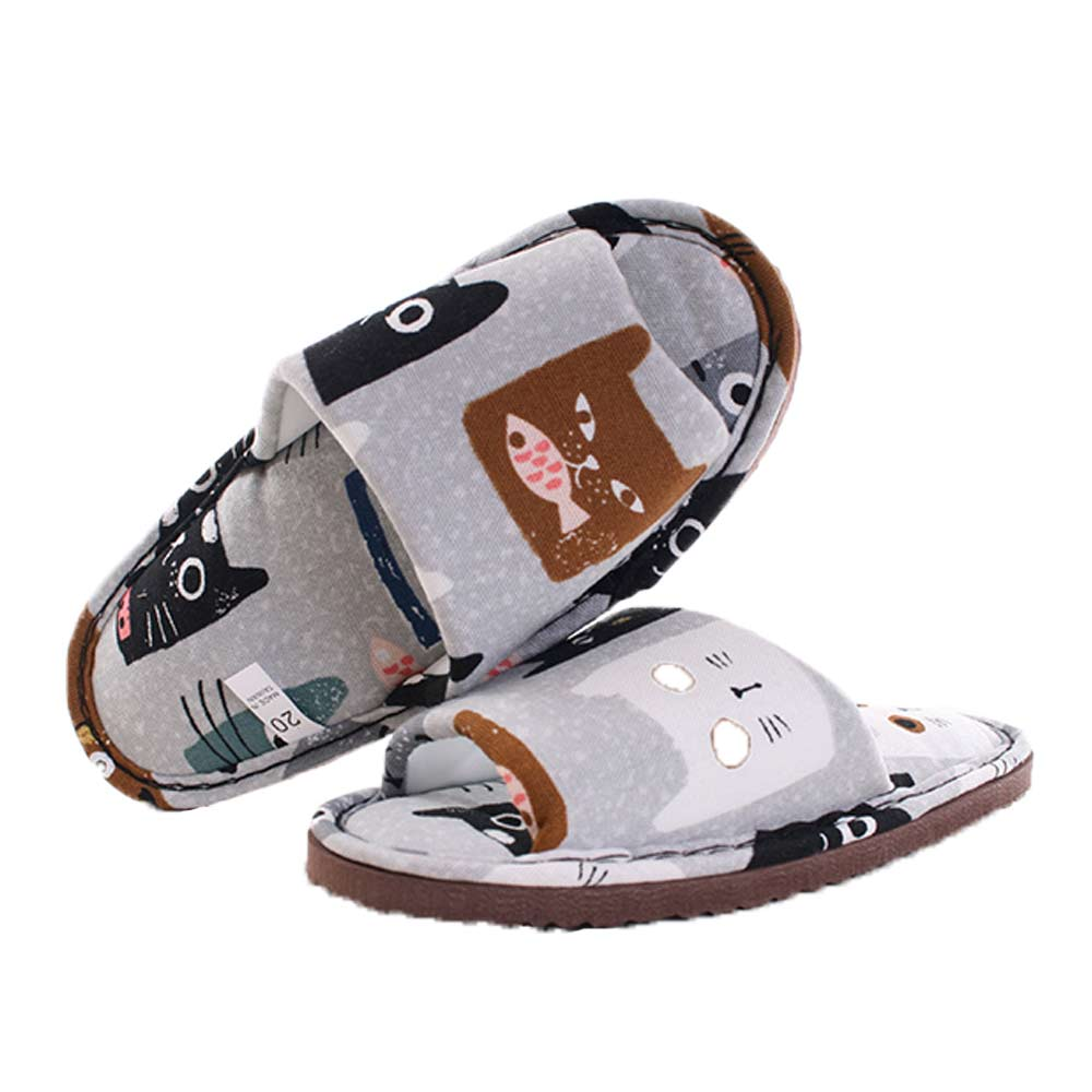 貓咪室內拖鞋 灰 sd0096 魔法Baby